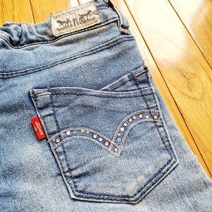 Girl's Levi Super Skinny Jean's with Rhinestones
